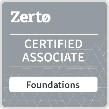 Zerto Certified Associated Foundations